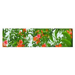 Flower Background Backdrop Pattern Satin Scarf (Oblong)