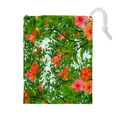 Flower Background Backdrop Pattern Drawstring Pouches (Extra Large)