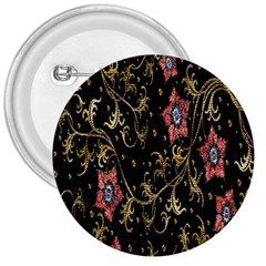 Floral Pattern Background 3  Buttons