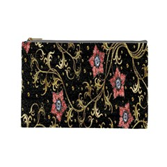 Floral Pattern Background Cosmetic Bag (Large)