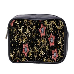Floral Pattern Background Mini Toiletries Bag 2-Side