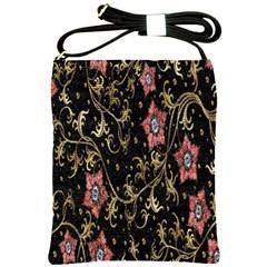 Floral Pattern Background Shoulder Sling Bags