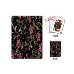 Floral Pattern Background Playing Cards (Mini)
