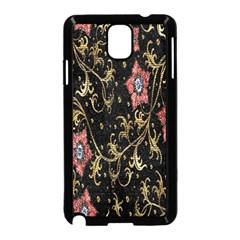 Floral Pattern Background Samsung Galaxy Note 3 Neo Hardshell Case (Black)