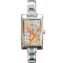 Flowers Background Backdrop Floral Rectangle Italian Charm Watch