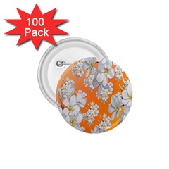 Flowers Background Backdrop Floral 1 75  Buttons (100 Pack)