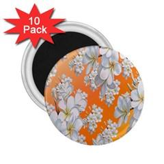 Flowers Background Backdrop Floral 2.25  Magnets (10 pack)