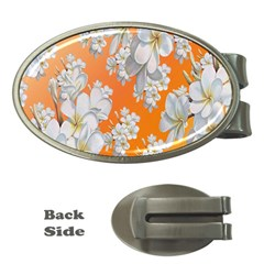 Flowers Background Backdrop Floral Money Clips (Oval)