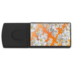 Flowers Background Backdrop Floral USB Flash Drive Rectangular (2 GB)