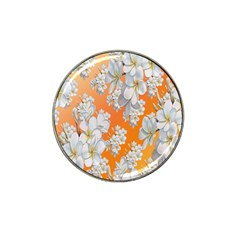 Flowers Background Backdrop Floral Hat Clip Ball Marker (10 pack)