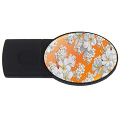 Flowers Background Backdrop Floral Usb Flash Drive Oval (4 Gb)