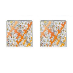Flowers Background Backdrop Floral Cufflinks (square)