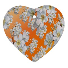 Flowers Background Backdrop Floral Heart Ornament (Two Sides)