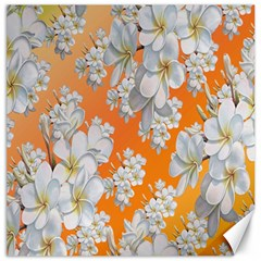 Flowers Background Backdrop Floral Canvas 16  x 16