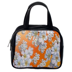 Flowers Background Backdrop Floral Classic Handbags (One Side)