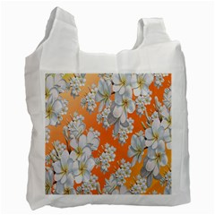 Flowers Background Backdrop Floral Recycle Bag (One Side)