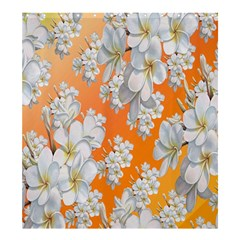 Flowers Background Backdrop Floral Shower Curtain 66  x 72  (Large)