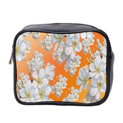 Flowers Background Backdrop Floral Mini Toiletries Bag 2-Side