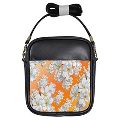 Flowers Background Backdrop Floral Girls Sling Bags