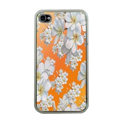 Flowers Background Backdrop Floral Apple iPhone 4 Case (Clear)