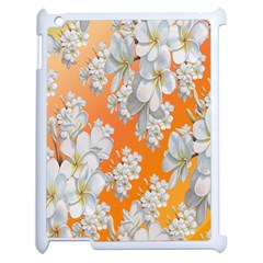 Flowers Background Backdrop Floral Apple iPad 2 Case (White)