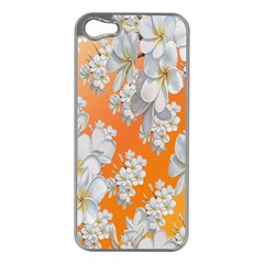 Flowers Background Backdrop Floral Apple iPhone 5 Case (Silver)