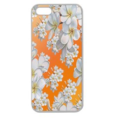 Flowers Background Backdrop Floral Apple Seamless iPhone 5 Case (Clear)