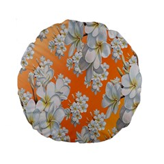 Flowers Background Backdrop Floral Standard 15  Premium Round Cushions