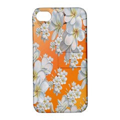 Flowers Background Backdrop Floral Apple Iphone 4/4s Hardshell Case With Stand