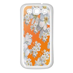 Flowers Background Backdrop Floral Samsung Galaxy S3 Back Case (White)