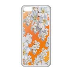 Flowers Background Backdrop Floral Apple Iphone 5c Seamless Case (white)