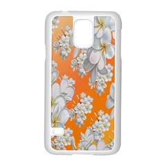 Flowers Background Backdrop Floral Samsung Galaxy S5 Case (white)