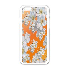 Flowers Background Backdrop Floral Apple Iphone 6/6s White Enamel Case