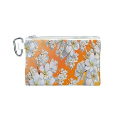 Flowers Background Backdrop Floral Canvas Cosmetic Bag (s)