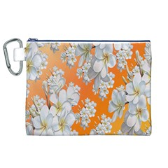 Flowers Background Backdrop Floral Canvas Cosmetic Bag (XL)