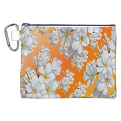 Flowers Background Backdrop Floral Canvas Cosmetic Bag (XXL)