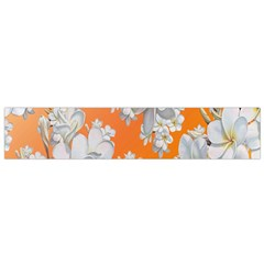 Flowers Background Backdrop Floral Flano Scarf (Small)