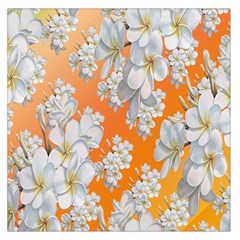 Flowers Background Backdrop Floral Large Satin Scarf (Square)