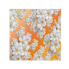 Flowers Background Backdrop Floral Small Satin Scarf (square)
