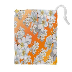 Flowers Background Backdrop Floral Drawstring Pouches (Extra Large)