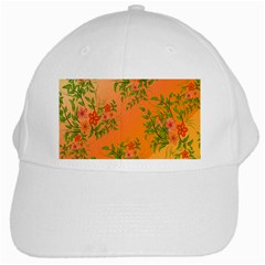 Flowers Background Backdrop Floral White Cap