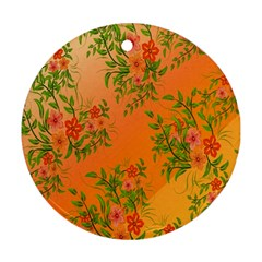 Flowers Background Backdrop Floral Ornament (round)