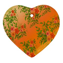 Flowers Background Backdrop Floral Ornament (Heart)