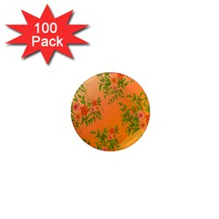 Flowers Background Backdrop Floral 1  Mini Magnets (100 pack)