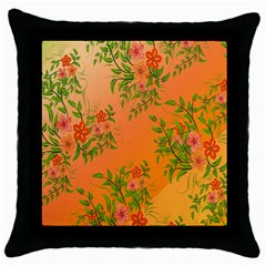 Flowers Background Backdrop Floral Throw Pillow Case (black)