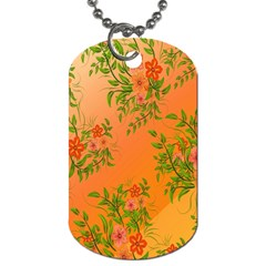 Flowers Background Backdrop Floral Dog Tag (Two Sides)