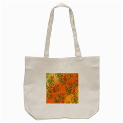 Flowers Background Backdrop Floral Tote Bag (Cream)
