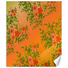 Flowers Background Backdrop Floral Canvas 8  x 10