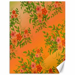 Flowers Background Backdrop Floral Canvas 12  x 16