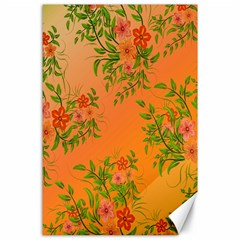 Flowers Background Backdrop Floral Canvas 24  x 36